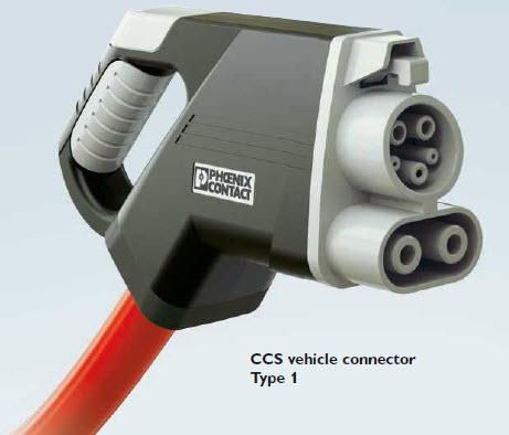 Conector para coche electrico CCS 1